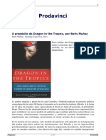 A Proposito de Dragon in the Tropics Por Boris Muñoz