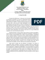 Movimento de Educação Para Todos e a Reforma Educacional No Brasil