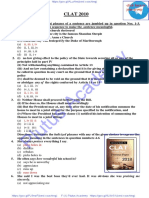 10 Previous Year's Solved Paper for CLAT