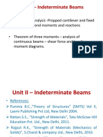 Unit II- Indeterminate Beams