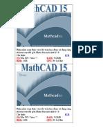 MathCAD 15 . 00