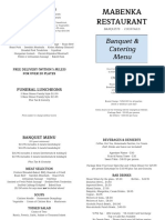 Mabenka Catering Menu