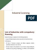 Industrial Licensing