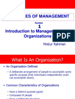 Session 1 Introduction to Management