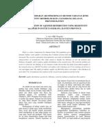 Penentuan Sebaran Akuifer Dengan Metode Tahanan Jenis