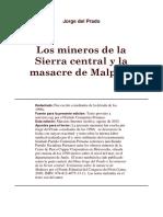 Los Mineros de La Sierra Central y La Masacre de Malpaso, Jorge Del Prado