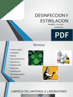 Desinfeccion y Estirilacion