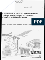 Chemkin-III a Fortran Chemical Kinetics Package for the Analysis of Gas-phase Chemical and Plasma Kinetics