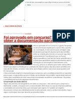 Foi Aprovado Em Concurso_ Veja Como Obter a Documentação Para a Posse _ Blog Tira Dúvidas de Concursos Da Rede Globo