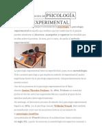 Definición Depsicología Experimental