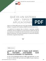 ▷ Qué es un ERP » Sistemas ERP, Tipos y aplicaciones del software.®