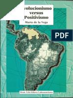 De La Vega M Libro Monte Ávila Editores Evolucionismo vs Positivismo