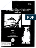 CIA and the Origins of the Bnd