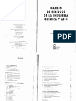Manejo de Residuos de La Industria Quimica y Afin