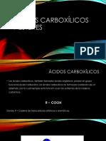 Ácidos Carboxílicos Y Esteres