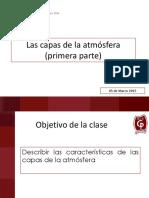 6° Presentación 1_LAS CAPAS DE LA ATMOSFERA PRIMERA PARTE