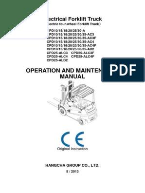 HC FORKLIFT NEW SERIES HANGCHA : Serisi Forklift, Operation