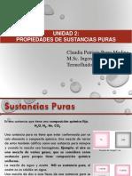 SUSTANCIAS PURAS Unidad 3 Termofluidos Claudia