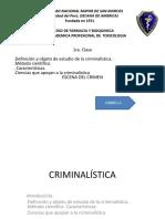 1ra Clase Criminalística