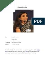 Chanda Kochar Document