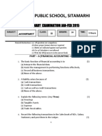 BPS Class XI Pre Board Examination Question Papers Jan 2015 All Subjects Scce Commerce