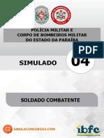 Simulado 04 Soldado - Pm_cbm_pb