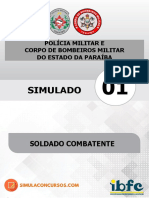 Simulado 01 Gratuito Soldado - Pm_cbm_pb