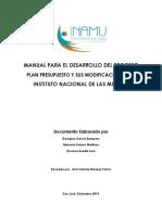 INAMUManualParaDesarrolloDelProcesoPlanPresupuestoYSusModificaciones
