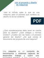 Introducción Al Proyecto y Diseño de Máquinas