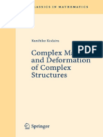 [Springer Series in Statistics] Kunihiko Kodaira - Complex Manifolds and Deformation of Complex Structures (2008, Springer Berlin Heidelberg)