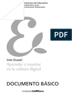 DUSSEL Aprender y Enseñar en La Cultura Digital Cap. 1 y 2