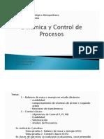 Clases Dinamica y Control de proceso - Prof. J. Voss - Universidad Tecnologica Metropolitana