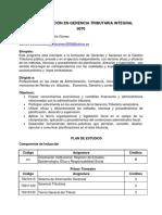 Especialización en Gerencia Tributaria Integral ..