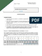 S2 - CF - 2015-2016 - Correction