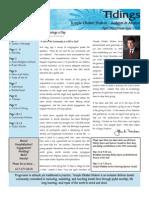April 2010 Tidings Newsletter, Temple Ohabei Shalom