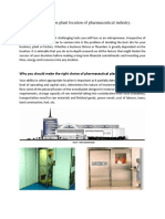 Case Study on Plant Location and Plant Layout of Pharmaceutical Industry