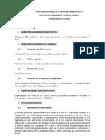 Plan de Profesorado Letras Para La Educación Secundaria Inicio 2013