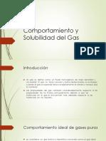 Comportamiento y Solubilidad Del Gas