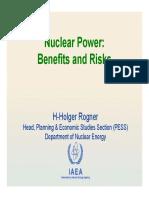 Riesgos y Beneficios Nuclear