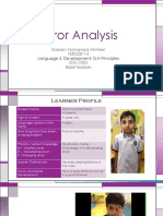 error analysis presentation