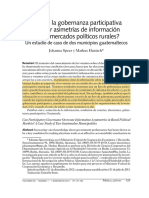 ¿Puede la gobernanza participativa superar asimetrías de información en los mercados políticos rurales?