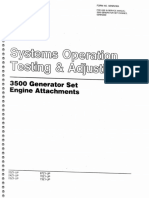 Systems Operation Testing Adjusting 3500 Generator Set Engine Attachments