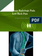 Pemeriksaan Radiologis Pada Low Back Pain