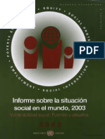 Informe Sobre La Situación Social en El Mundo