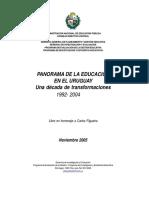 2005nov- Panorama de La Educacin en Uruguay 1992-2004