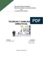 Tecnicas y Habilidades Directivas