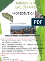 Preliminares de Planeamiento Urbano