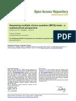 Ssoar-Alhe-2007-1-Scharf Et Al-Assessing Multiple Choice Question Mcq