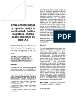 Política migratoria chilena desde comienzo de siglo XX - Norambuena, Navarrete y Matamoros