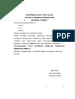 Surat Pernyataan Persetujuan